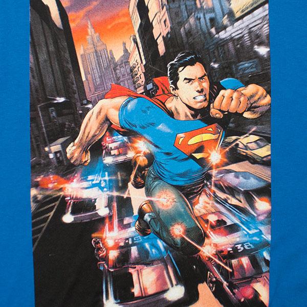 Superman Police Cars Tee Shirt - Blue