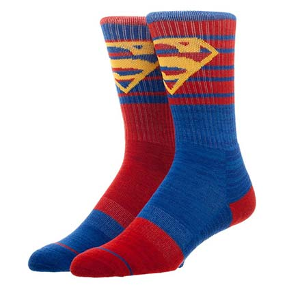 Superman Flipped Colors Men's Superhero Crew Socks