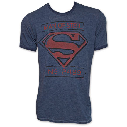 Superman Junk Food Brand Man Of Steel Shirt