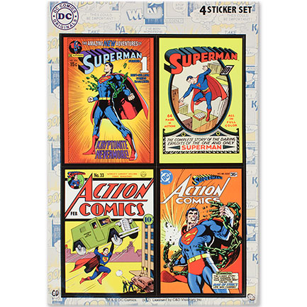 Superman Stickers 4-Pack