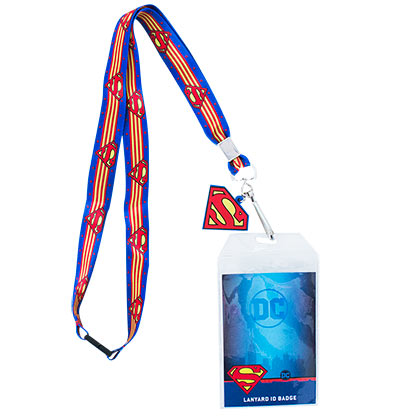 Superman Striped Lanyard