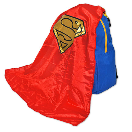 Superman Costume Backpack With Cape