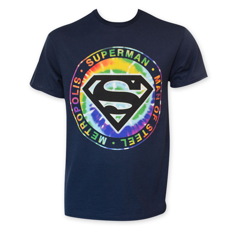 Superman Tie Dye Man Of Steel Logo T-Shirt