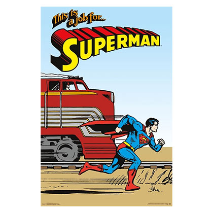 Superman More Powerful Than A Train 23x34  Poster