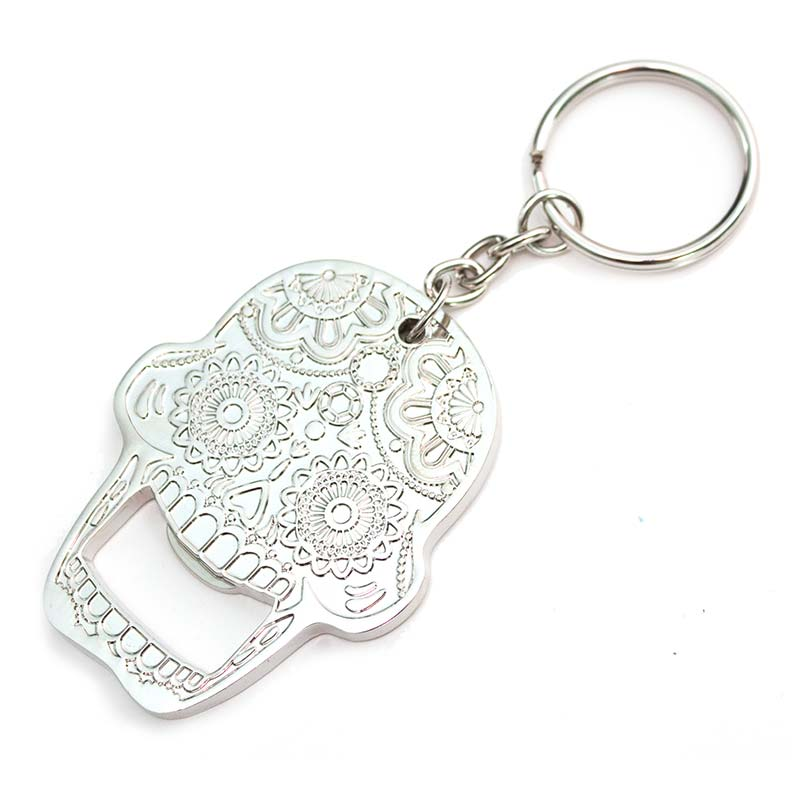 Sugar Candy Skull Bottle Opener Keychain