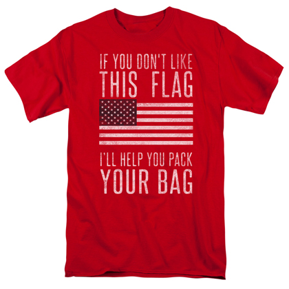 Patriotic Pack Your Bags Red Tshirt