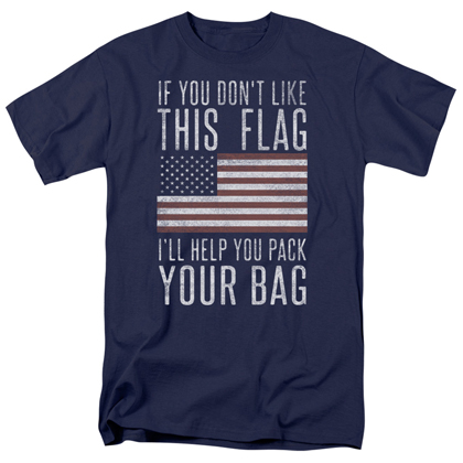 Patriotic Pack Your Bags Navy Blue Tshirt