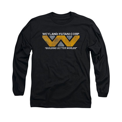 Alien Weyland Black Long Sleeve T-Shirt