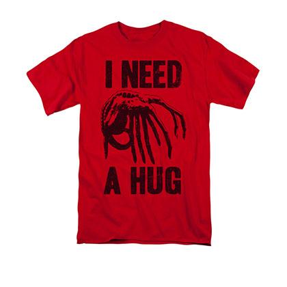 Alien Men's Red I Need A Hug Tee Shirt