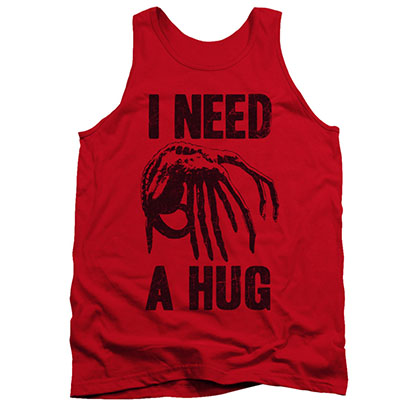 Alien I Need A Hug Red Tank Top