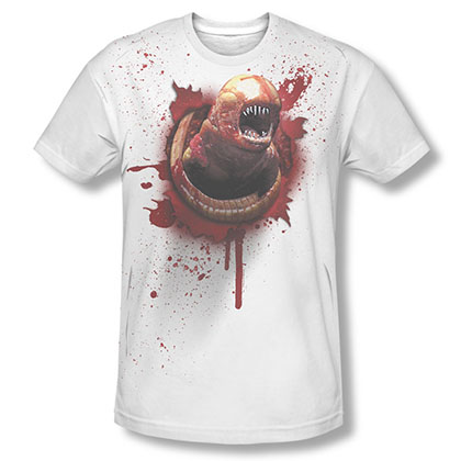 Alien Chestburster White Sublimation T-Shirt
