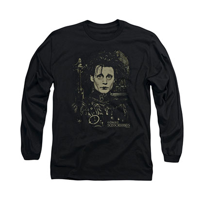 Edward Scissorhands Black Long Sleeve T-Shirt