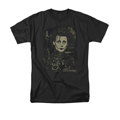 Edward Scissorhands Black Portrait Tee Shirt