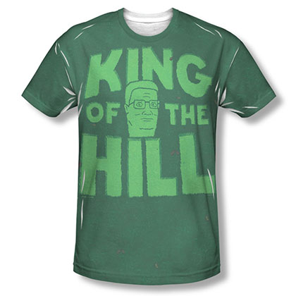 King Of The Hill Logo Green Sublimation T-Shirt