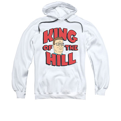 King Of The Hill Logo White Pullover Hoodie