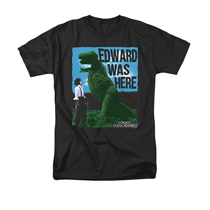 Edward Scissorhands Men's Black Was Here Tee Shirt