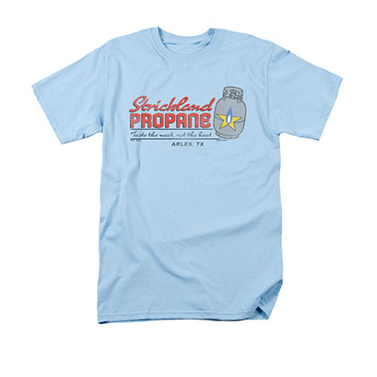 King Of The Hill Strickland Propane Blue Tee Shirt