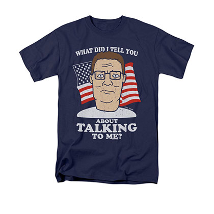 King Of The Hill Men's Blue Hank Tee Shirt