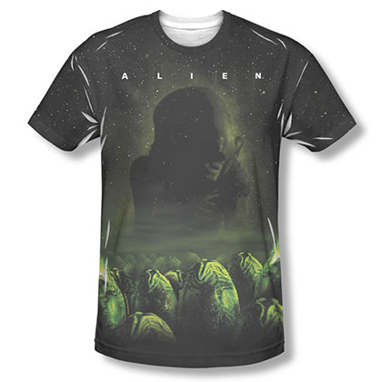 Alien Ominous Black Sublimation T-Shirt