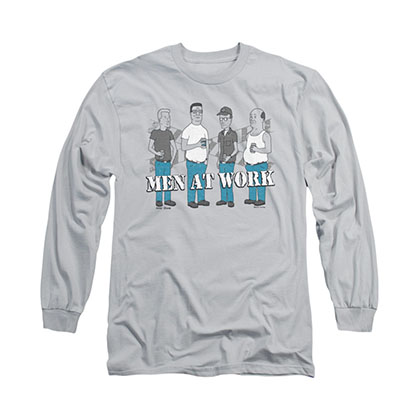 King Of The Hill Men At Work Gray Long Sleeve T-Shirt