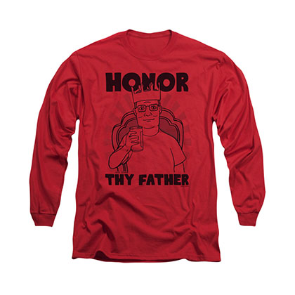 King Of The Hill Father Red Long Sleeve T-Shirt