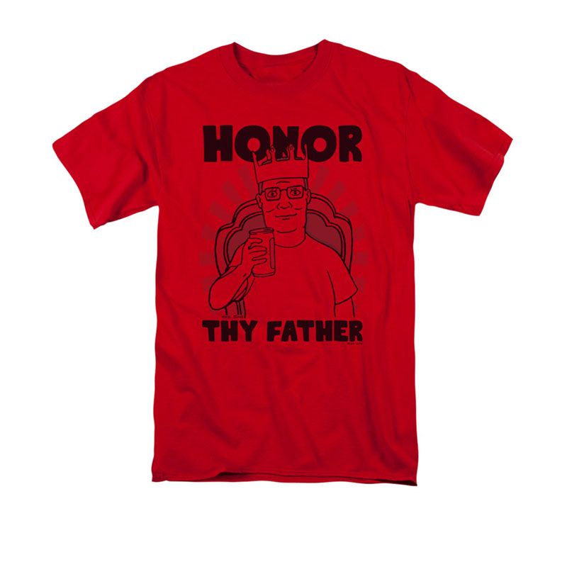 King Of The Hill Men\'s Red Honor Thy Father T-Shirt | TVMovieDepot.com