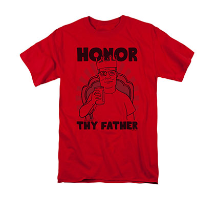 King Of The Hill Honor Thy Father Red Tee Shirt