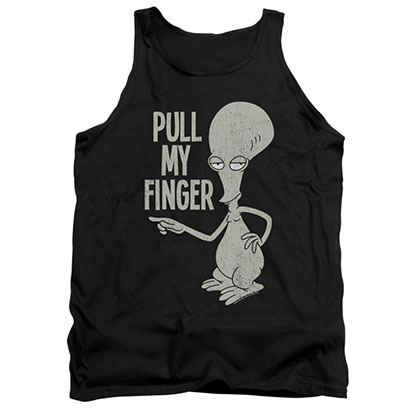 American Dad Pull My Finger Black Tank Top
