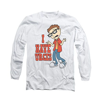 American Dad Urges White Long Sleeve T-Shirt