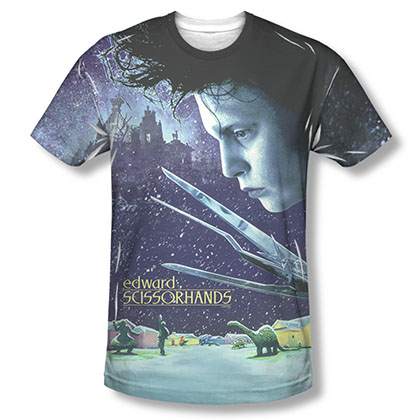 Edward Scissorhands Home Poster Sublimation T-Shirt