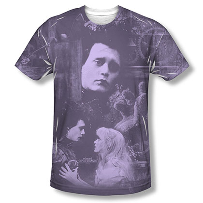 Edward Scissorhands Story Purple Sublimation T-Shirt