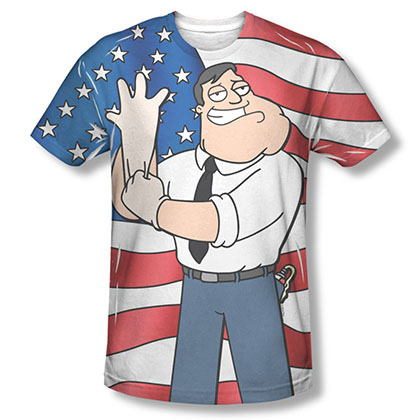 American Dad Spreading Freedom Sublimation T-Shirt