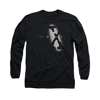 The X-Files Spotlight Logo Black Long Sleeve T-Shirt