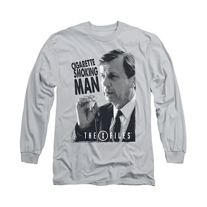 The X-Files Smoking Man Gray Long Sleeve T-Shirt