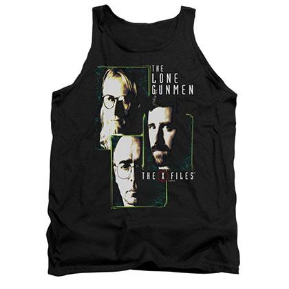 The X-Files Lone Gunmen Black Tank Top
