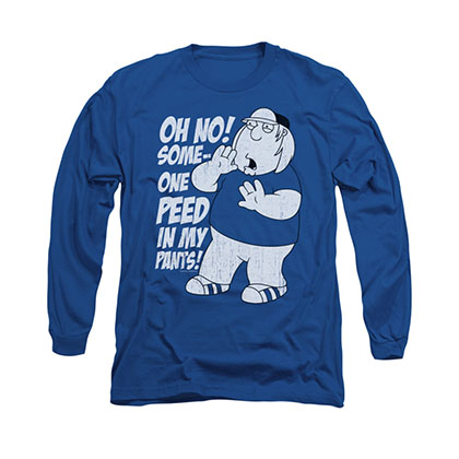Family Guy Peed My Pants Blue Long Sleeve T-Shirt