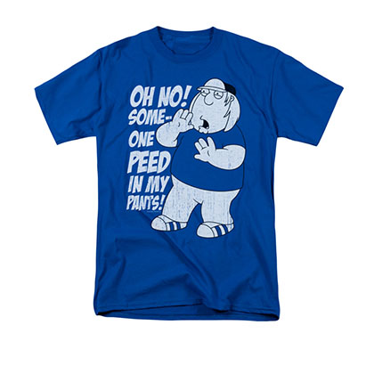 Family Guy Men's Blue Chris Peed In My Pants Tee Shirt