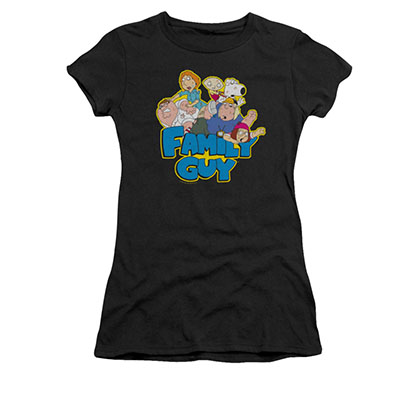 Family Guy Juniors Black Logo Tee Shirt