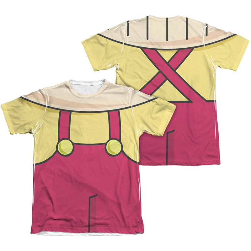 Family guy stewie costume sublimation t shirt for Family guy t shirts amazon