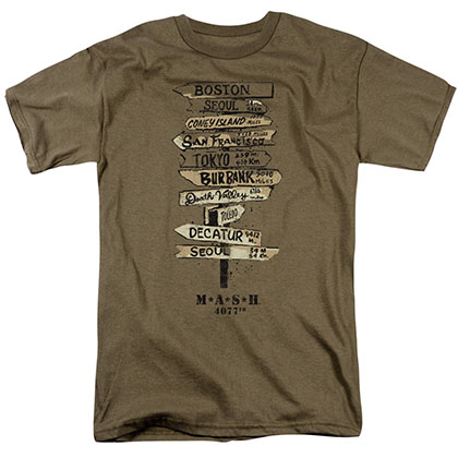 MASH Signs Olive Brown T-Shirt