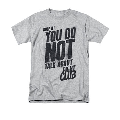 Fight Club Rule Number 1 Gray T-Shirt