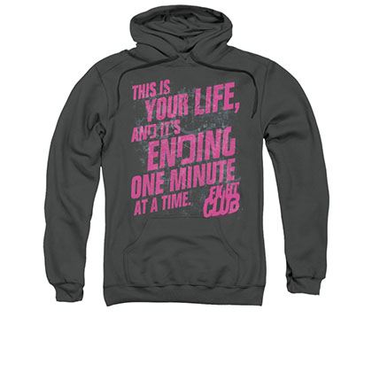 Fight Club Life Ending Gray Pullover Hoodie