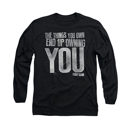 Fight Club Owning You Black Long Sleeve T-Shirt