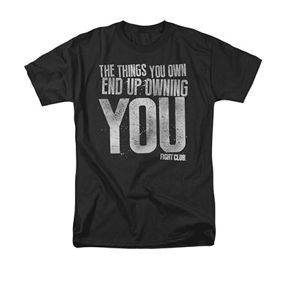 Fight Club Owning You Black Tee Shirt