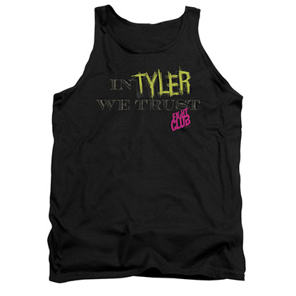 Fight Club In Tyler We Trust Black Tank Top