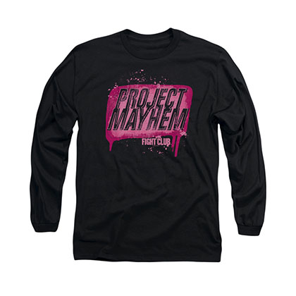 Fight Club Project Mayhem Black Long Sleeve T-Shirt