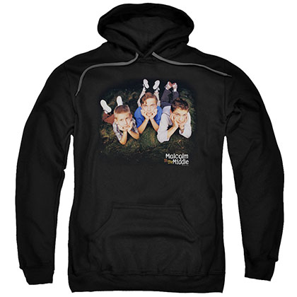 Malcolm In The Middle Kids Logo Black Pullover Hoodie