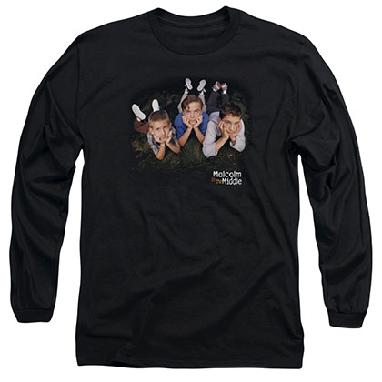 Malcolm In The Middle Kids Logo Black Long Sleeve T-Shirt