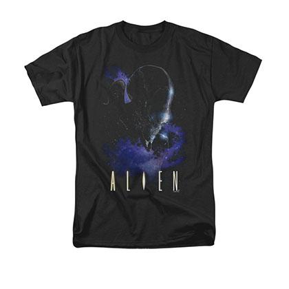 Alien In Space Black Tee Shirt