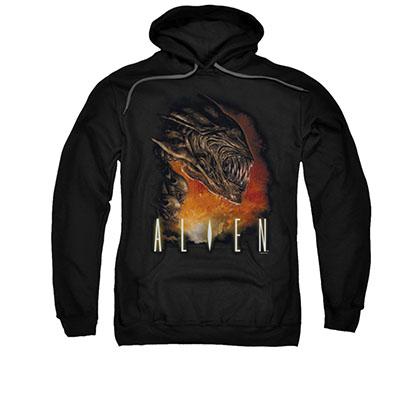 Alien Fangs Black Pullover Hoodie
